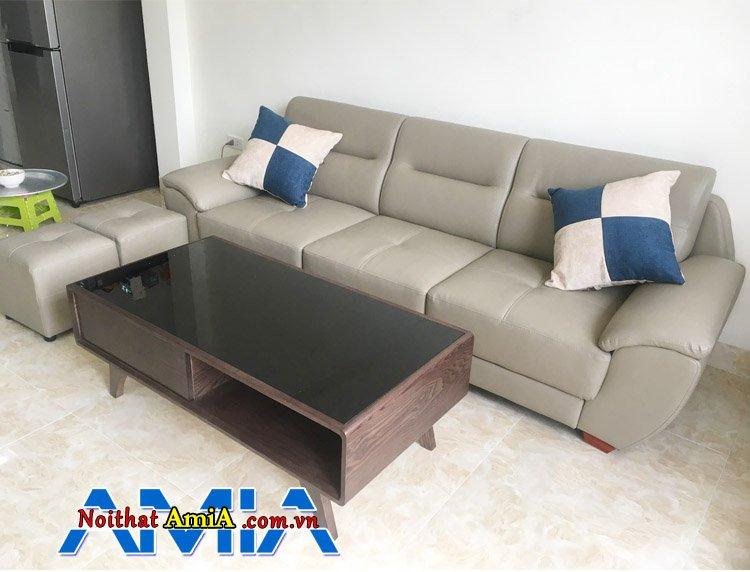 Mẫu ghế sofa da phòng khách được ưa chuộng hiện nay