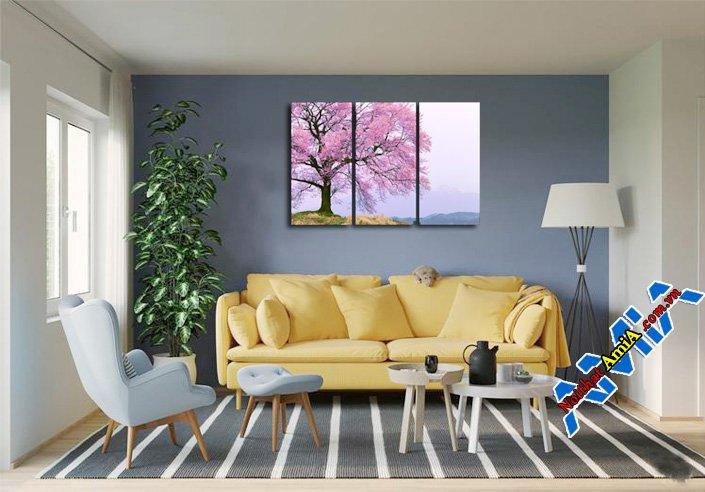 Mẫu nội thất phòng khách diện tích nhỏ và sofa văng