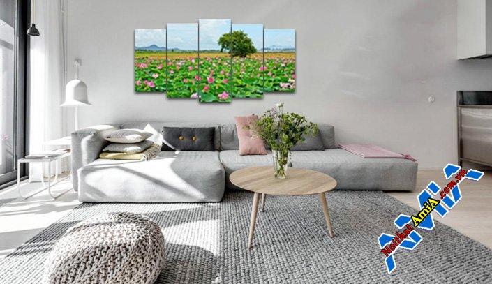 Mẫu nội thất phòng khách không gian đẹp hiện đại