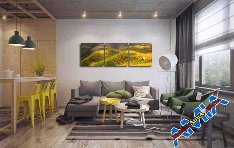 Mẫu nội thất phòng khách sofa đơn giản mà đẹp mắt