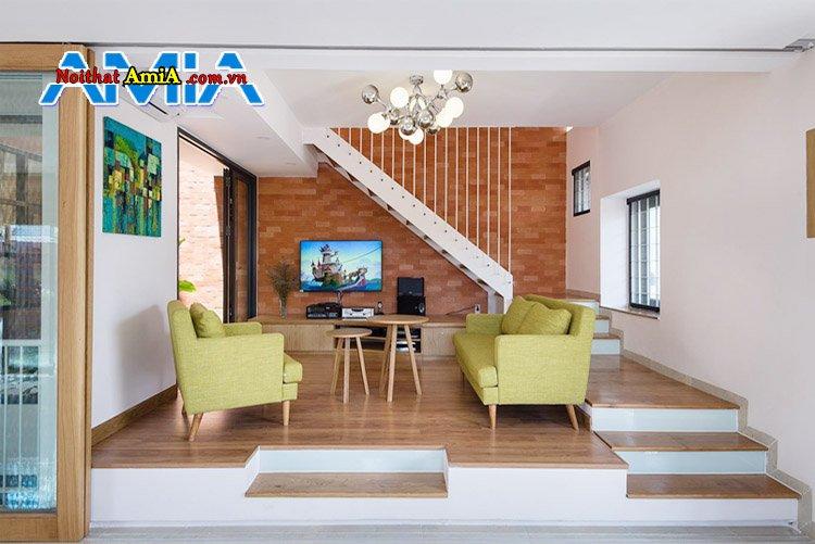 Phòng khách nhà ống và sofa đẹp
