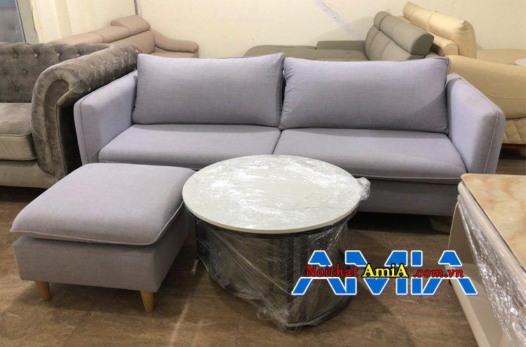 Sofa màu ghi sữa hiện đại hợp mệnh Thủy