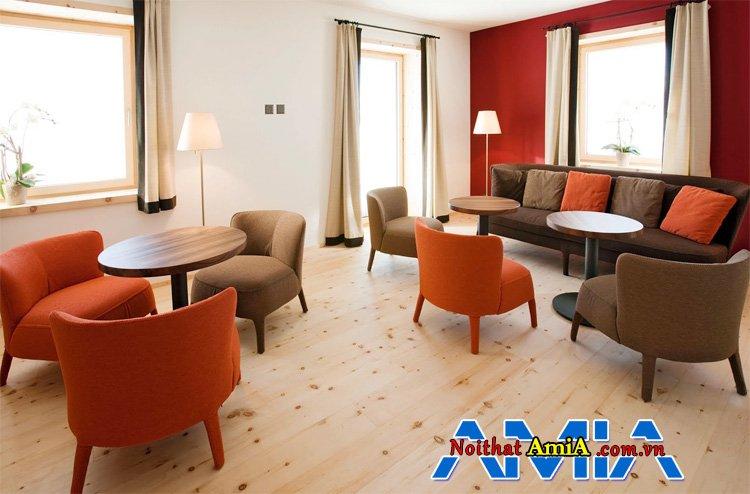 Sofa quán cafe đẹp hiện đại