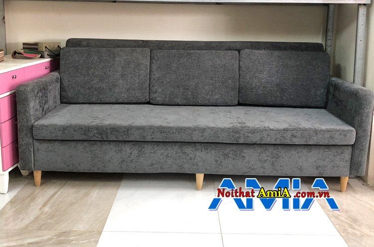 Sofa văng 3 chỗ màu lông chuột cho mệnh Thổ