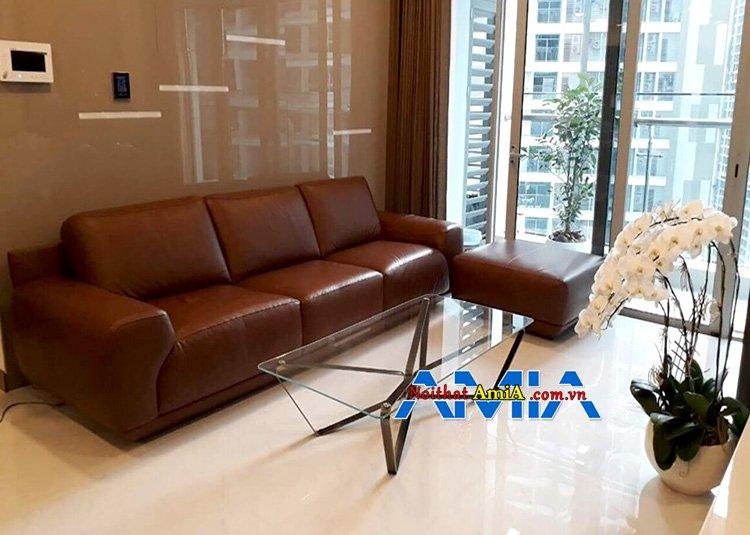 Hình ảnh bàn ghế chung cư đẹp View qua cửa kính căn hộ
