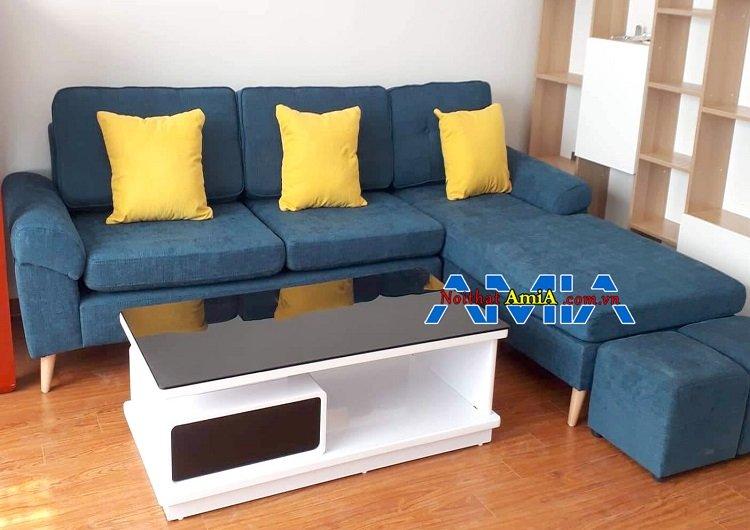 Ảnh bộ bàn ghế sofa nỉ đẹp cho phòng khách chung cư 1910732