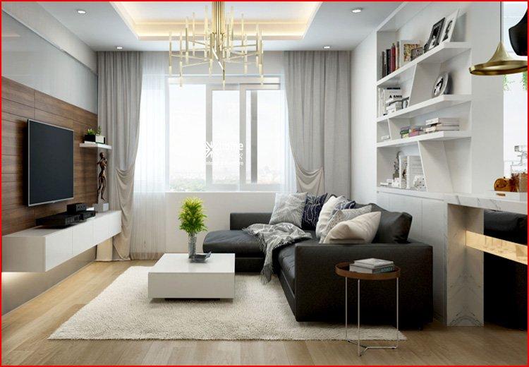 Căn hộ chung cư nhỏ dưới 60m2 kê sofa góc L