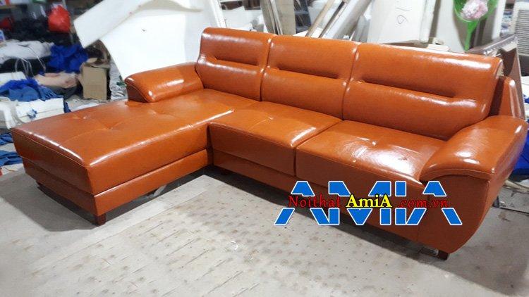 Mẫu ghế da màu cam đóng theo yêu cầu