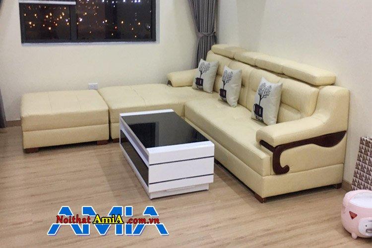 Ghế sofa phòng khách chung cư đẹp hiện đại tại nhà khách hàng AmiA SFD268