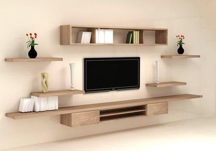 Đây là mẫu kệ tivi hiện đại treo tường đẹp