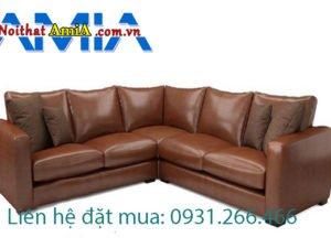 Sofa da màu nâu AmiA SFD1911920