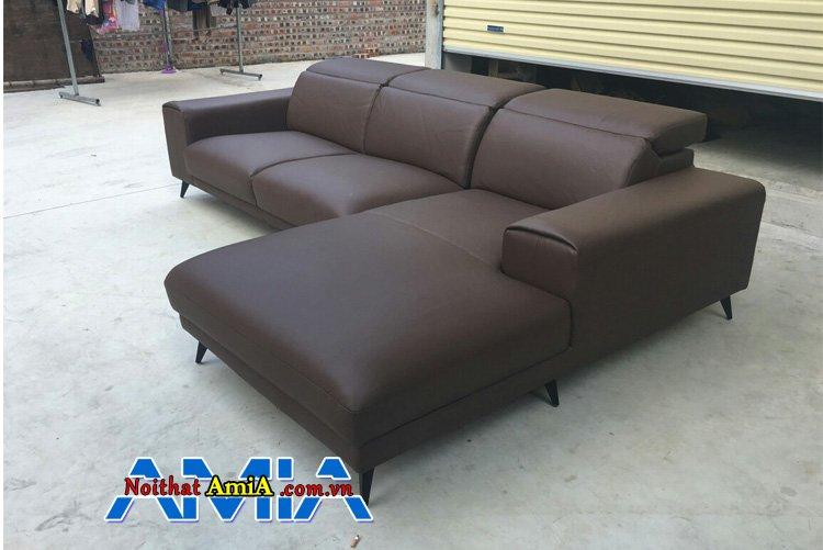 Sofa phòng khách nông thôn AmiA SFD259 màu đen nâu sang trọng