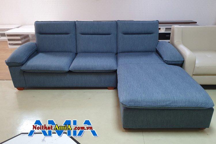 Ghế sopha góc chữ L màu xanh cho nhà ống AmiA SFN264