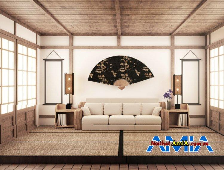 Hình ảnh bộ ghế sofa văng 3 chỗ đẹp sử dụng cho phòng khách rộng