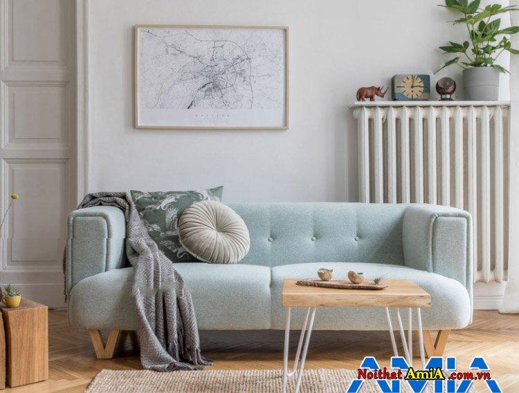 Hình ảnh mẫu ghế sofa văng bọc nỉ kê phòng ngủ