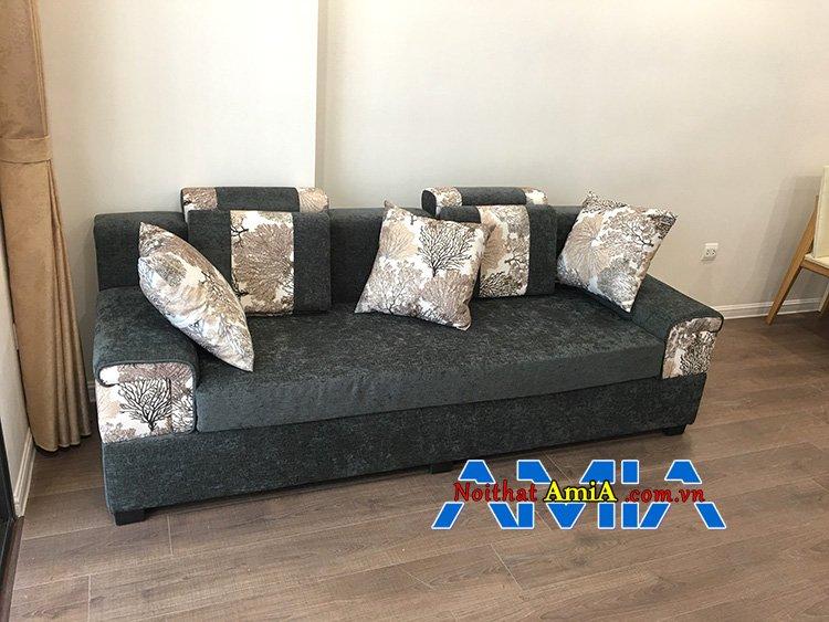 Hình ảnh ghế sofa nỉ giá rẻ màu xám lông chuột dạng văng
