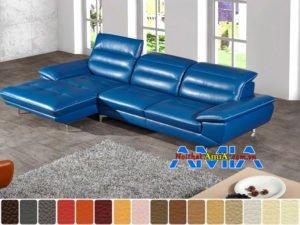 sofa phòng khách hiện đại màu xanh dương