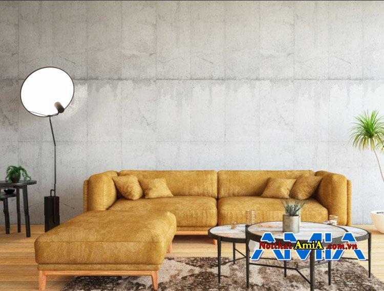 Hình ảnh mẫu ghế sofa màu vàng đẹp giúp bạn mở rộng không gian kê