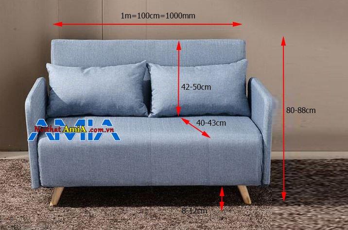 Kích thước sofa 2 chỗ 1m chuẩn nhất
