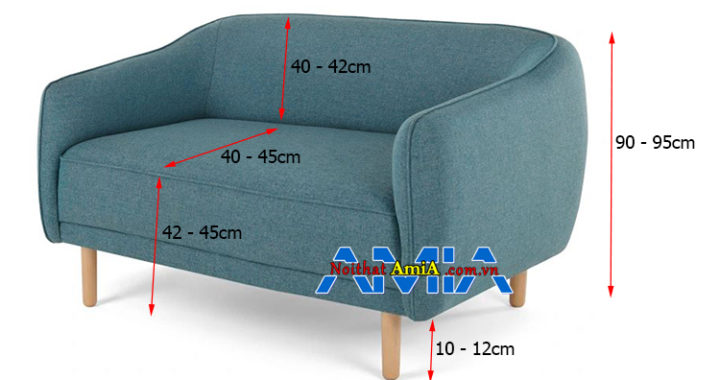 Kích thước sofa 2 chỗ 1m8 chính xác