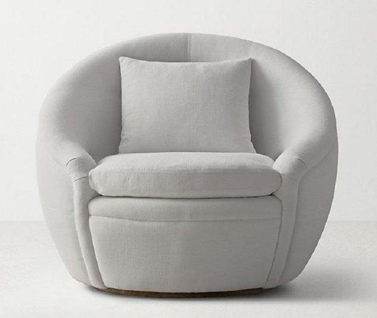 Hình ảnh kích thước ghế sofa tròn đôi đẹp Mini