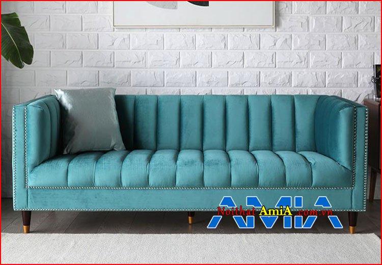 Hình ảnh sofa nhỏ gọn màu xanh ngọc lam 199224