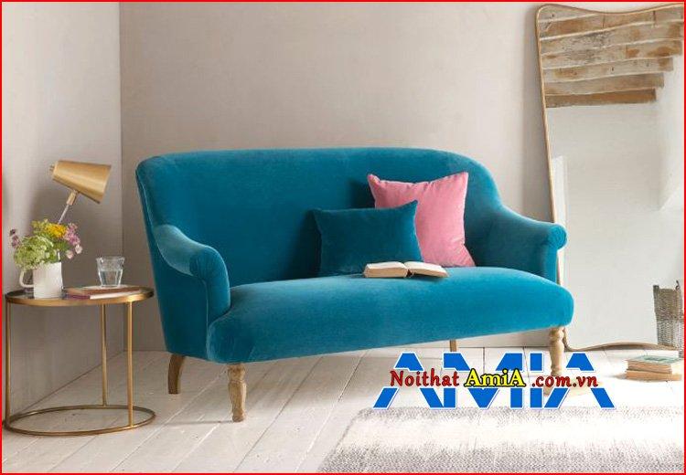 Ghế sofa phòng ngủ xanh ngọc