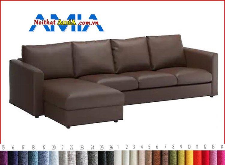 bộ ghế sofa góc chân gỗ thấp đẹp
