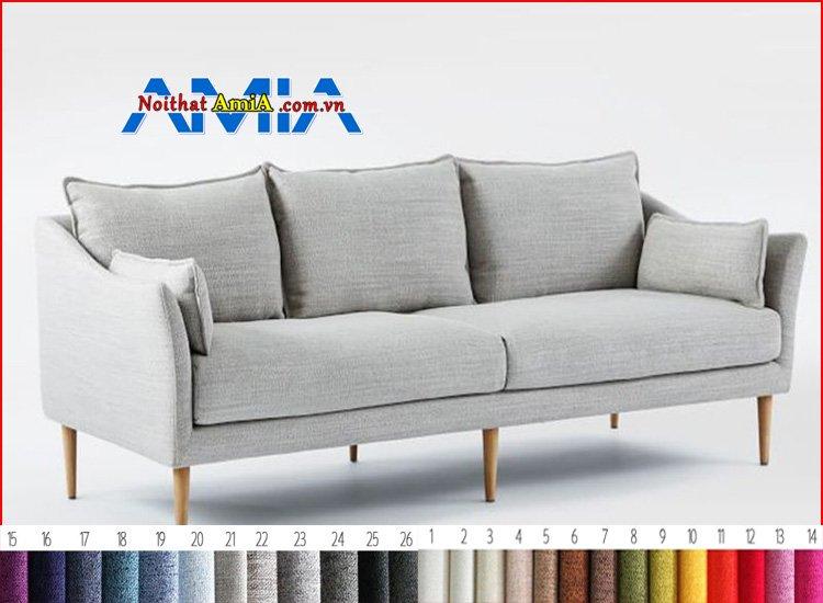Hình ảnh sofa chân gỗ cao màu xám