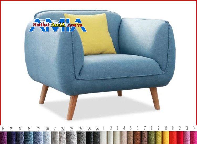 ghế sofa đơn chân gỗ tròn cao đẹp