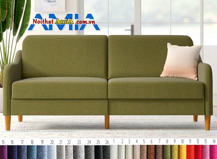 sofa chân gỗ cao 8cm nhỏ gọn