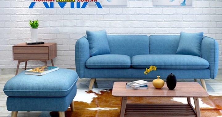 sofa hiện đại chân gỗ cao