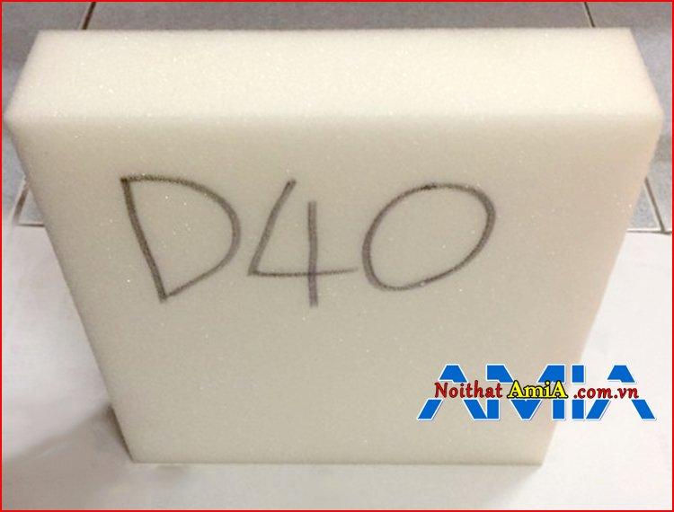 Chất liệu mút xốp D40 dày dặn