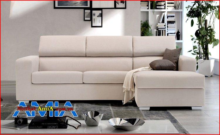 sofa chữ L chân Inox thấp đẹp