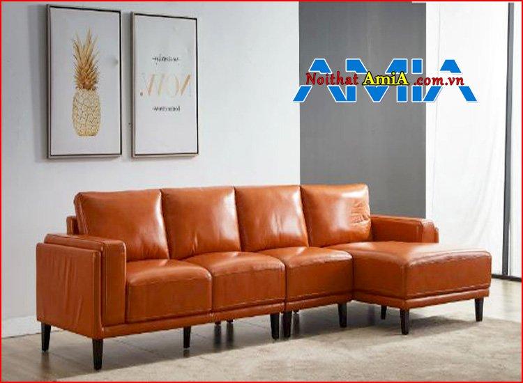 sofa chung cư đẹp màu cam mã SFD199263