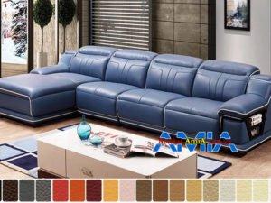 sofa da cao cấp cho nhà biệt thự đẹp AmiA SFD199255