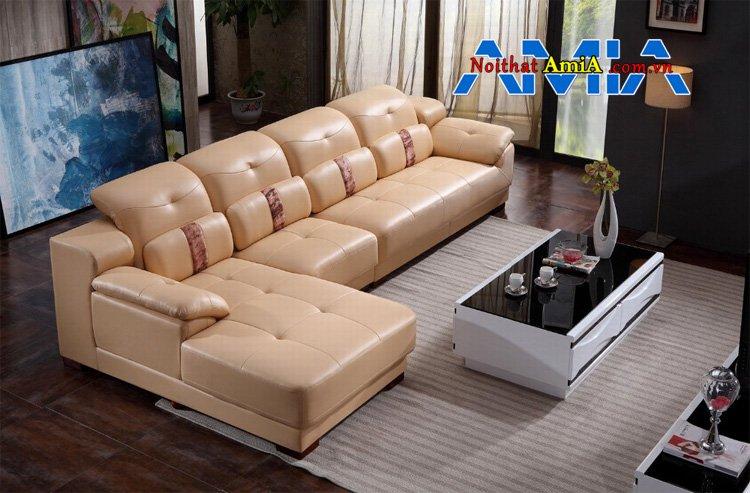 sofa da chữ L đẹp tựa gật gù 199292