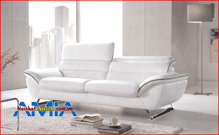 Sofa văng 2 chỗ bọc da đẹp hiện đại