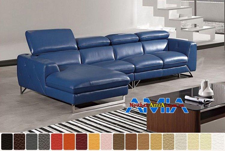 sofa da phòng khách sang trọng AmiA SFD199259