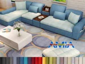 sofa phòng khách hiện đại chất liệu nỉ AmiA SFN199256
