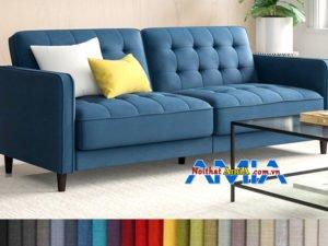 Mẫu sofa văng 2 chỗ nhỏ gọn tay vịn cao AmiA SFN199248