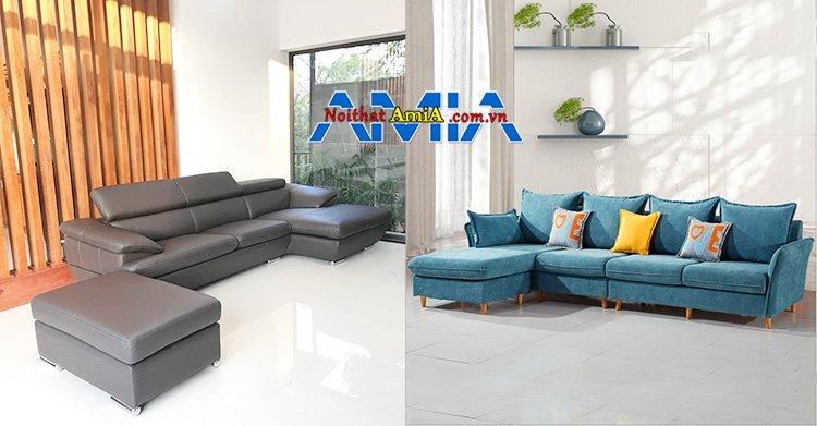 Nên mua sofa nỉ hay da cho phòng khách chung cư