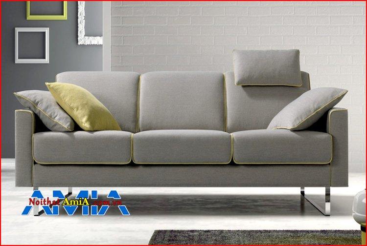 sofa 3 chỗ chân Inox tay vịn vuông