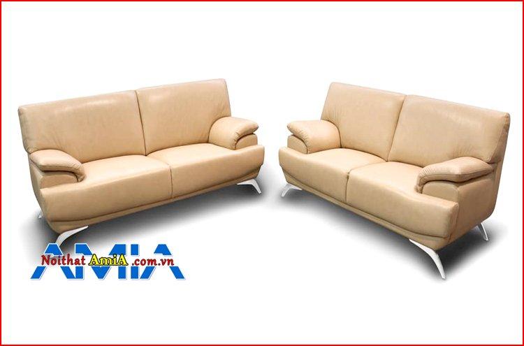 sofa bộ đẹp chân Inox cho phòng khách
