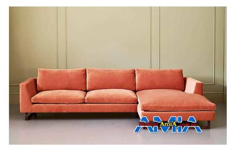 Hinh anh mau ghe sofa boc ni mau do AmiA SFN1601205