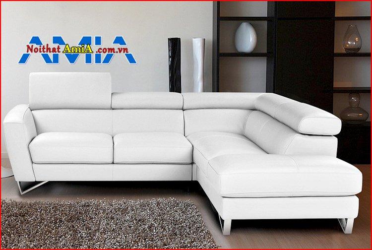sofa da chân Inox đẹp nhất hiện nay