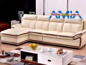 sofa da cho phòng khách chung cư viền đen mã SFD199268
