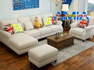 Hình ảnh bộ sofa góc tân cổ điển cho chung cư cao cấp sang trọng
