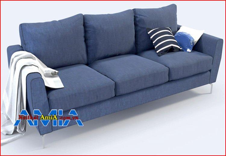 sofa nhỏ chân Inox hiện đại kết hợp gối bông mềm