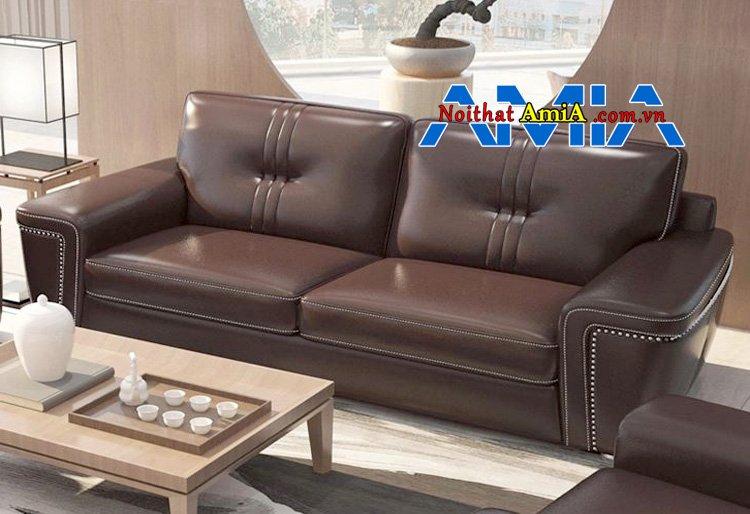 sofa văng da cao câp màu Cafe mã SFD199279